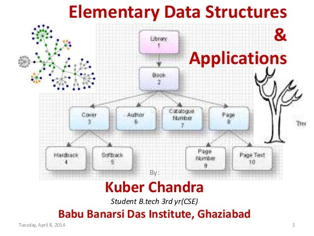 Elementary Data Structures & Applications By: Kuber Chandra Student B.tech 3rd yr(CSE) Babu Banarsi Das Institute, Ghaziab...