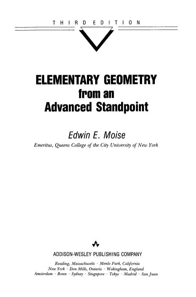Elementary geometry from an advanced standpointgeometra elemental d elementary geometry from an advanced standpointgeometra elemental desde un punto de vista avanzado fandeluxe Choice Image