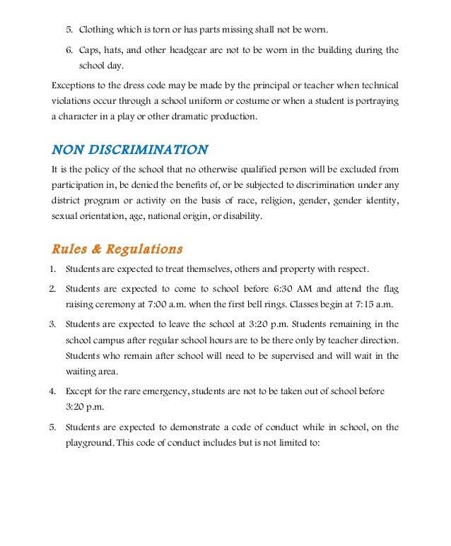 Elementary pupils' handbook