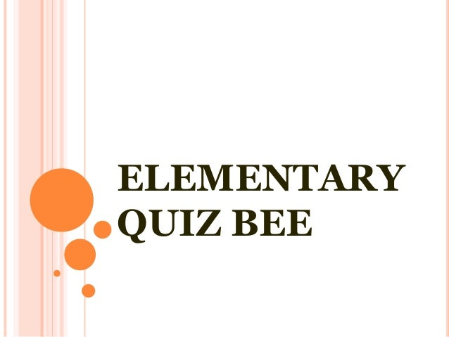Science Math Elementary Quiz Bee