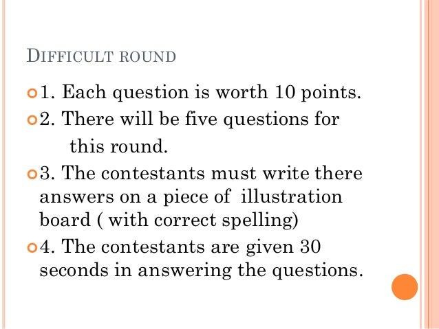 Science Math Elementary quiz bee