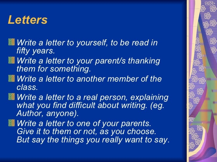 letter writing topics for grade 5