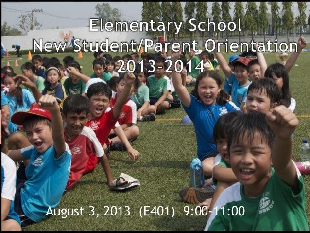 August 3, 2013 (E401) 9:00-11:00