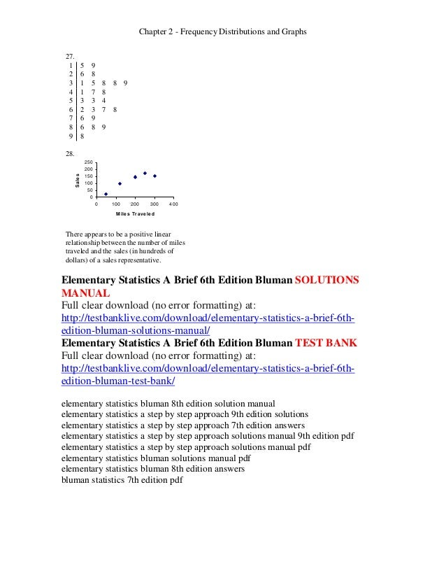 Elementary statistics a brief 6th edition bluman solutions manual 27 fandeluxe Images