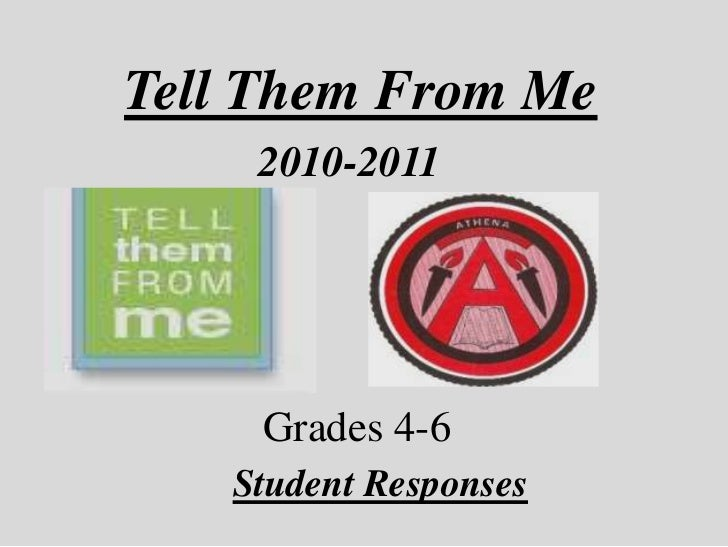 Tell Them From Me<br />2010-2011<br />Grades 4-6<br />Student Responses<br />