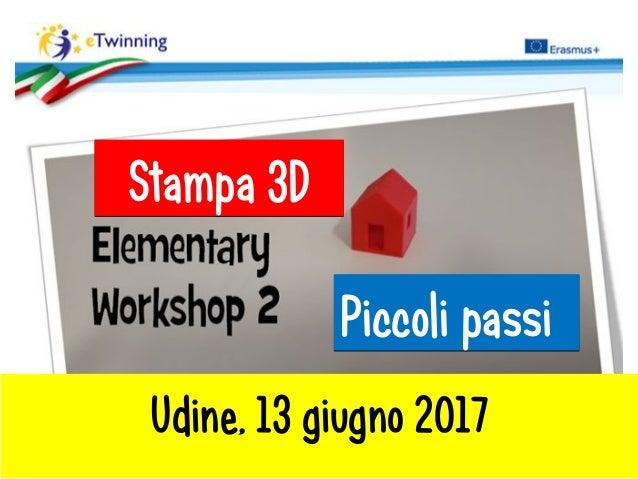 Piccoli passiPiccoli passi Stampa 3DStampa 3D Udine, 13 giugno 2017