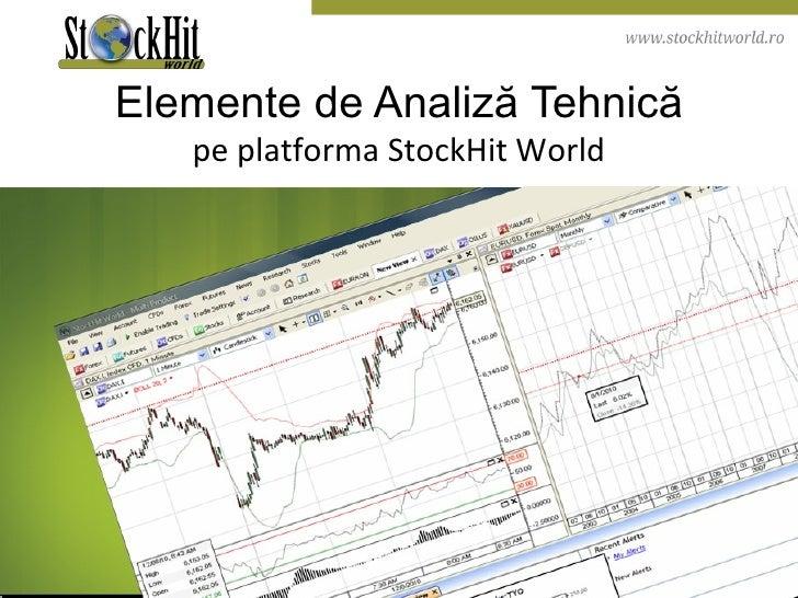 Elemente de Analiză Tehnică pe platforma StockHit World