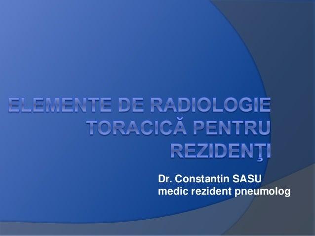 Dr. Constantin SASU medic rezident pneumolog