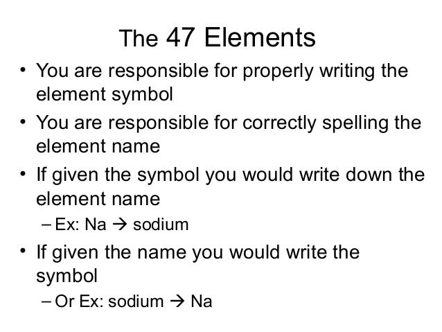 Chemistry element flashcards element symbols on the periodic table and make flashcards to memorize the symbols and names 5 urtaz Image collections