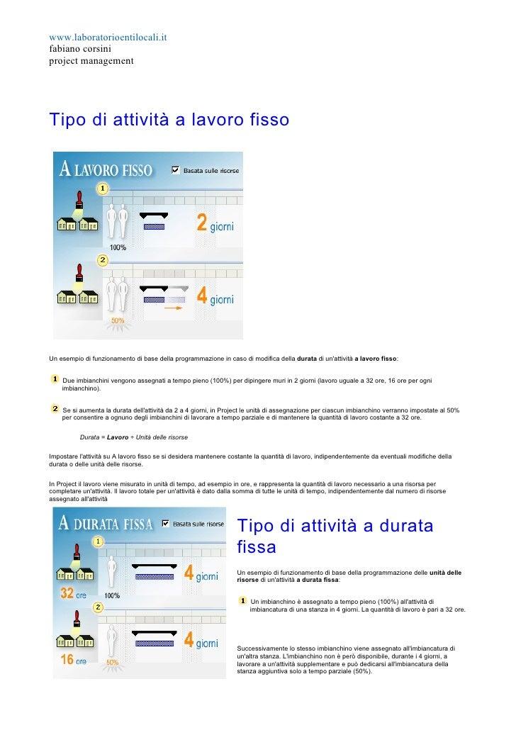 www.laboratorioentilocali.it fabiano corsini project management     Tipo di attività a lavoro fisso     Un esempio di funz...