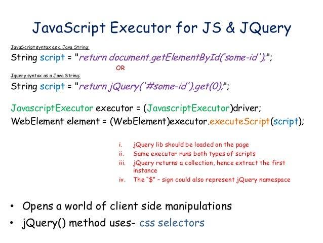 Selenium WebDriver Element Locators