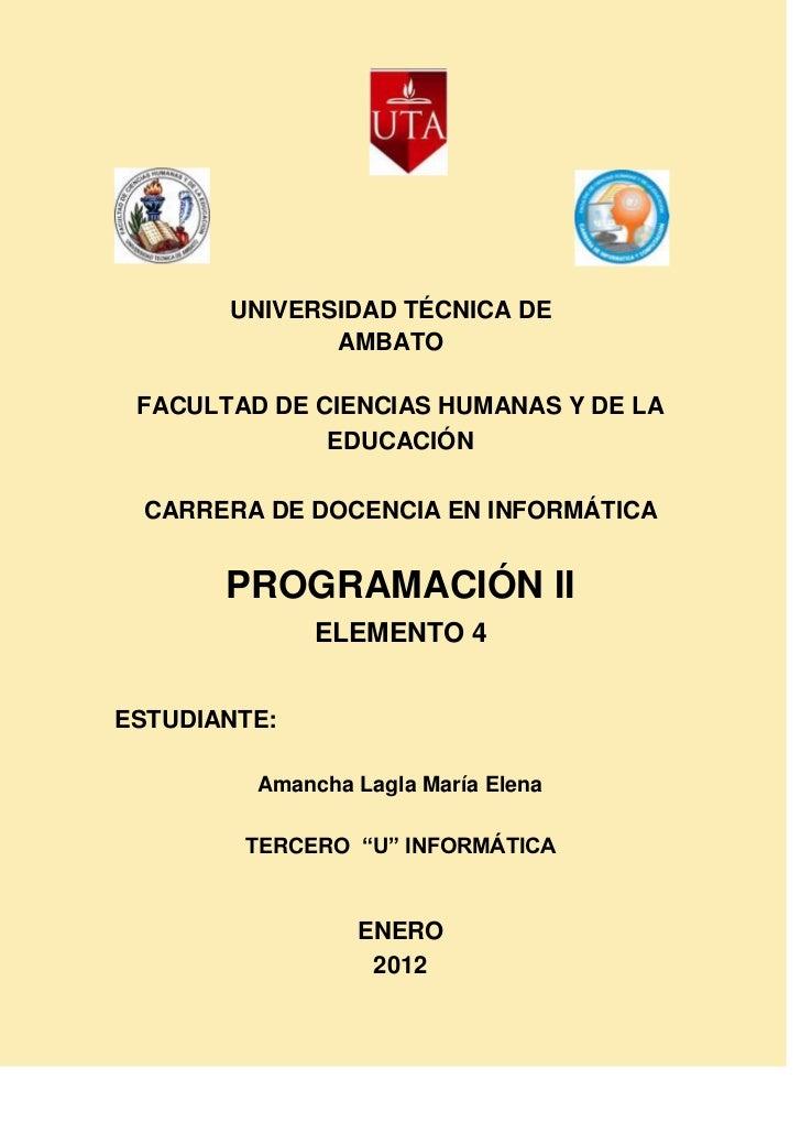 UNIVERSIDAD TÉCNICA DE              AMBATO FACULTAD DE CIENCIAS HUMANAS Y DE LA              EDUCACIÓN CARRERA DE DOCENCIA...