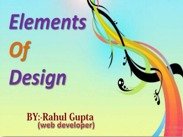 Have you heard about Element of design ?