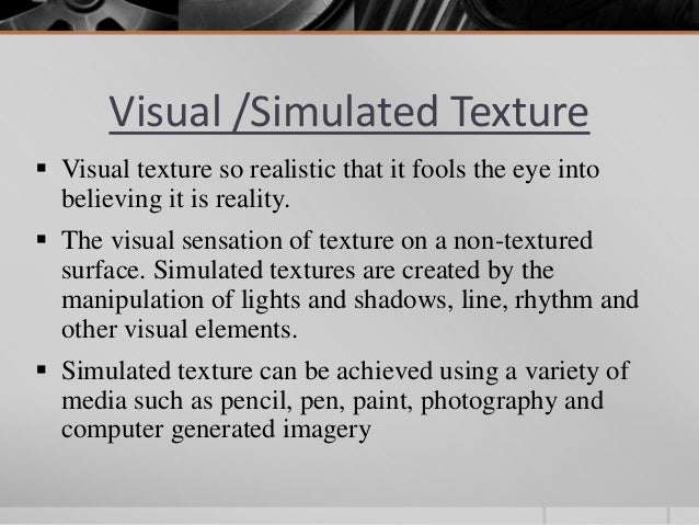 Elements Of Art Texture Definition : Element of design texture