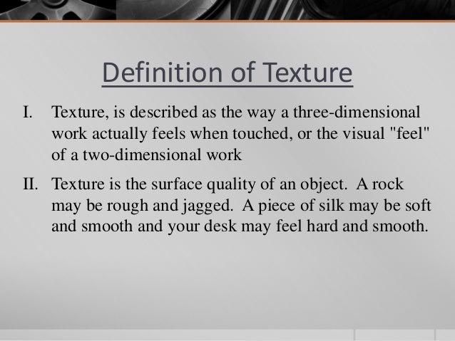 Elements Of Design Definition : Element of design texture