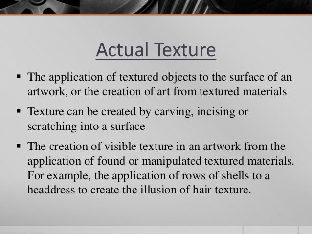 Element of design texture