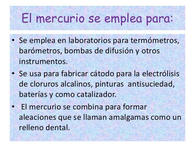 Elemento mercurio for En que se utiliza el marmol
