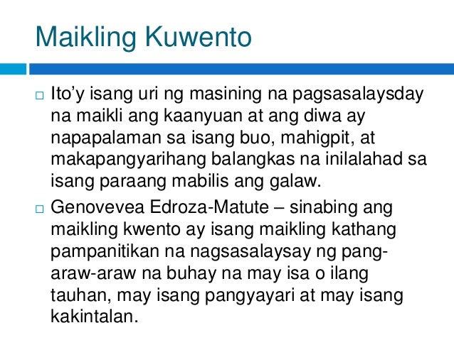 mga maikling kwento