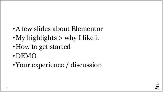 Elementor - WordPress WYSIWYG Page Builder Slide 2