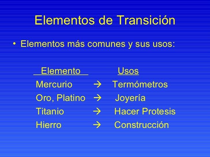 Elementos representativos y de transicion elementos de transicin urtaz Image collections