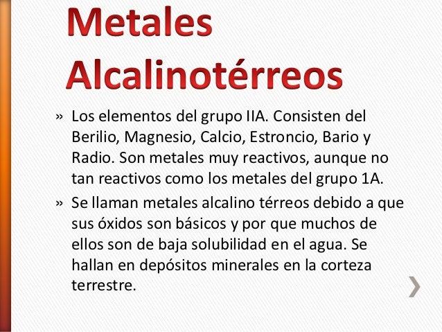 Metales alcalinoterreos y terreos metales alcalinoterreos y terreos los elementos del grupo iia consisten del berilio magnesio calcio urtaz Gallery