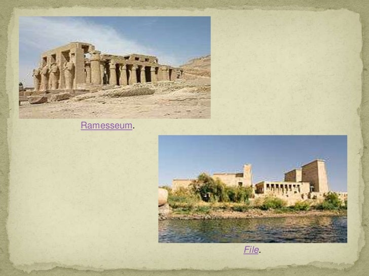 Elementos arquitectónicos de EGIPTO Slide 3