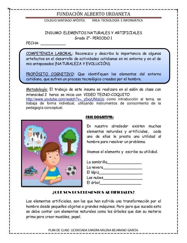 FUNDACIÓN ALBERTO URDANETA COLEGIO SANTIAGO APÓSTOL ÁREA: TECNOLOGÍA E INFORMÁTICA PLAN DE CLASE: LICENCIADA SANDRA MILENA...