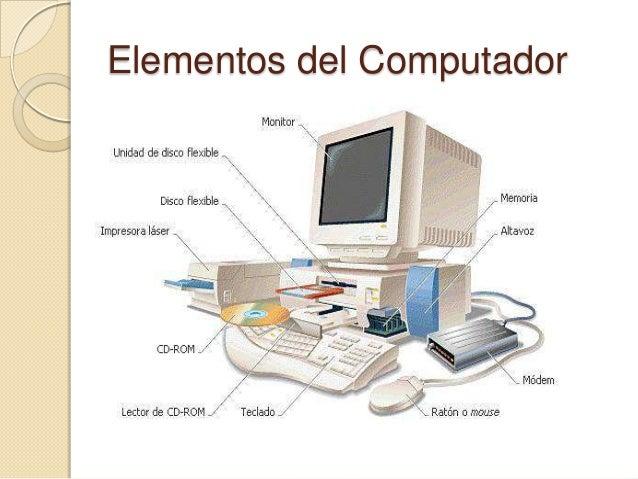 Elementos basicos de la computacion for Elementos de hardware