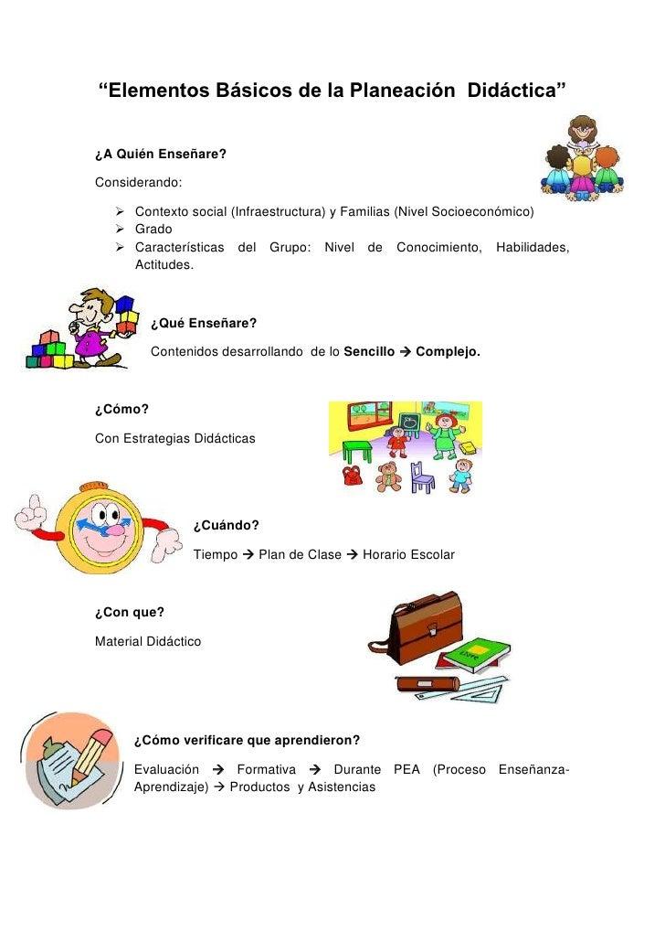 """""""Elementos Básicos de la Planeación Didáctica""""¿A Quién Enseñare?Considerando:    Contexto social (Infraestructura) y Fami..."""