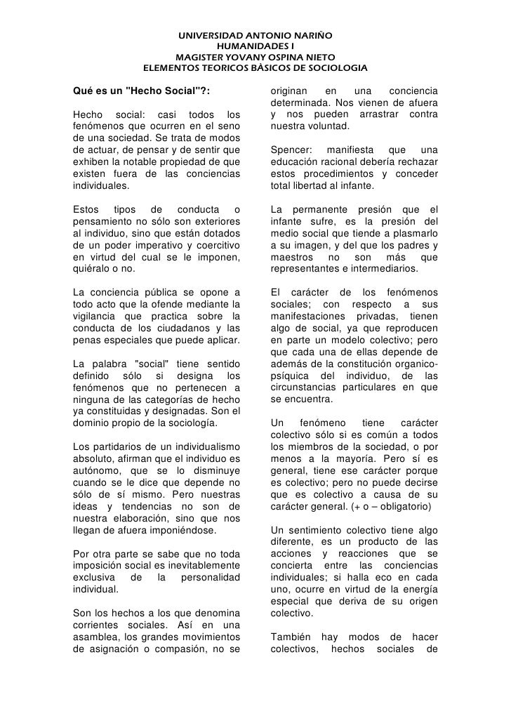 UNIVERSIDAD ANTONIO NARIÑO                             HUMANIDADES I                     MAGISTER YOVANY OSPINA NIETO     ...