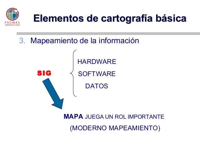 Elementos cartograf a base for Elementos de hardware