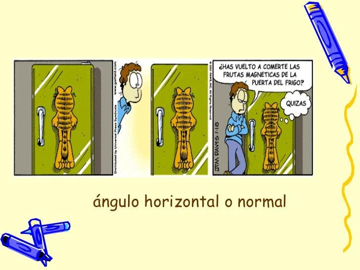 ángulo horizontal o normal