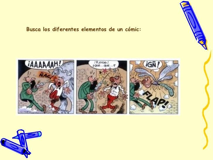 Busca los diferentes elementos de un cómic: