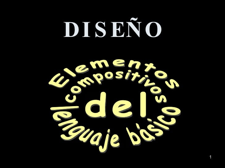 Elementos compositivos del lenguaje básico DISEÑO