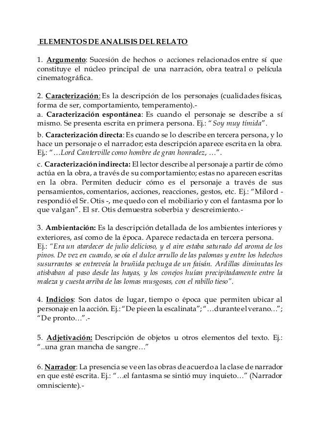 Elementos De Analisis Del Relato