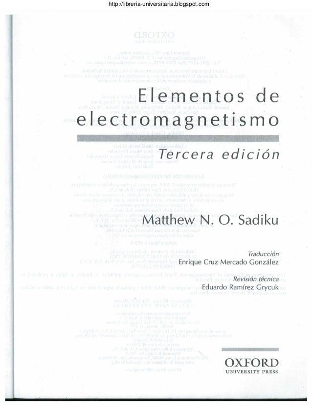 libro teoria electromagnetica sadiku