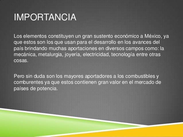 Elementos qumicos de importancia en mxico importancia los elementos constituyen urtaz Image collections