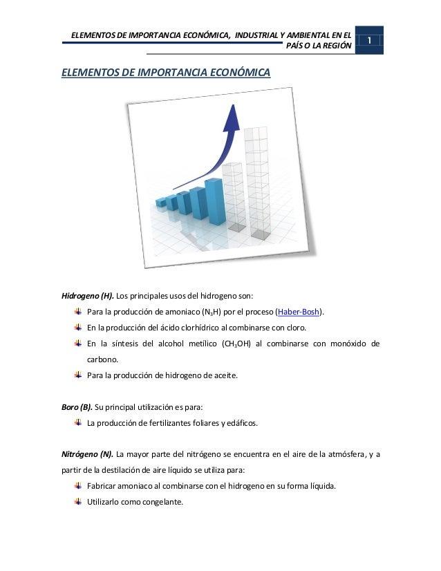 Elementos de importancia economica industrial y ambiental elementos de importancia urtaz Gallery
