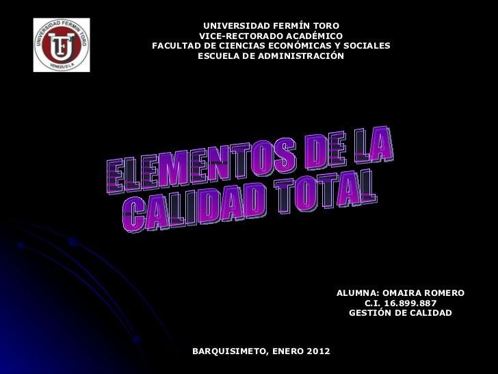 UNIVERSIDAD FERMÍN TORO VICE-RECTORADO ACADÉMICO FACULTAD DE CIENCIAS ECONÓMICAS Y SOCIALES ESCUELA DE ADMINISTRACIÓN ALUM...