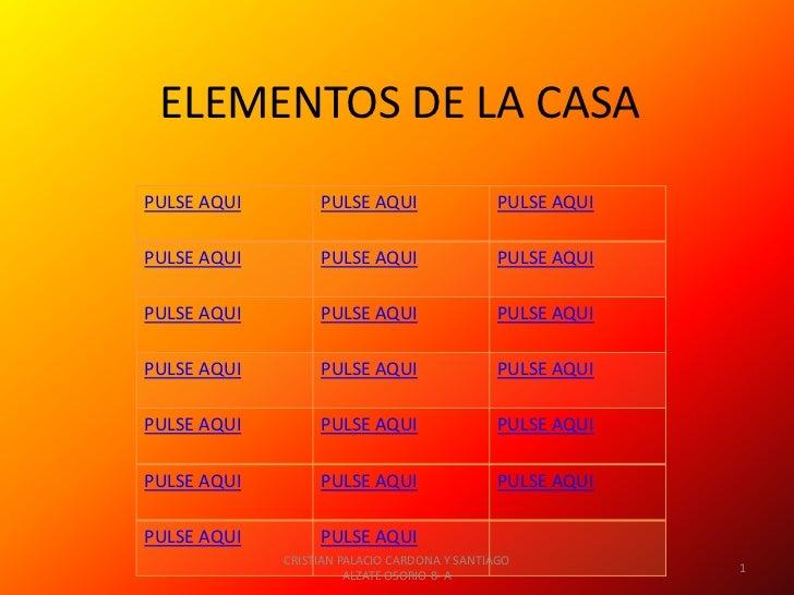 ELEMENTOS DE LA CASAPULSE AQUI        PULSE AQUI                  PULSE AQUIPULSE AQUI        PULSE AQUI                  ...