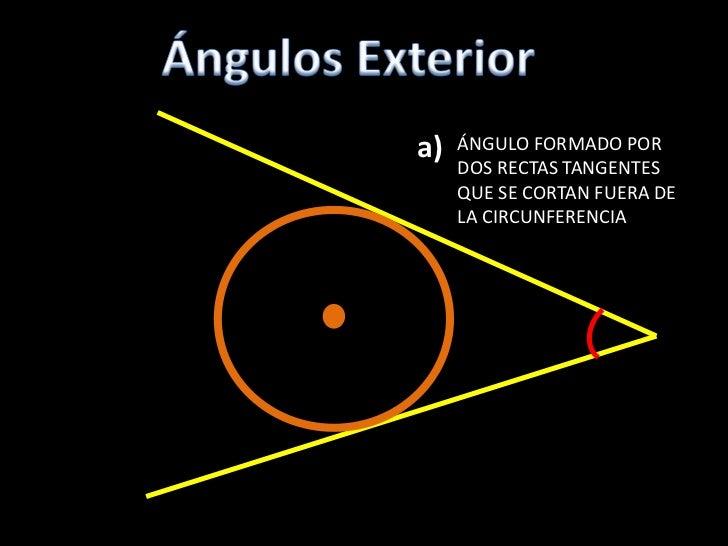 Elementos de la circunferencia for Exterior a la circunferencia
