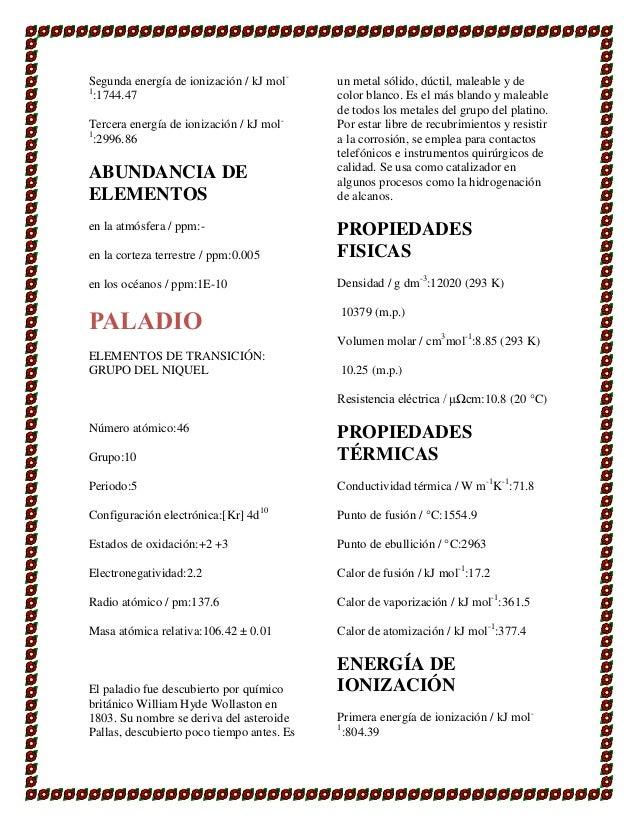 47 - Tabla Periodica De Los Elementos Densidad