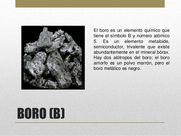 Elementos de la tabla periodica boro urtaz Gallery