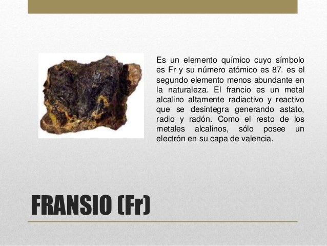 Elementos de la tabla periodica 9 fransio fr es un elemento qumico urtaz Choice Image