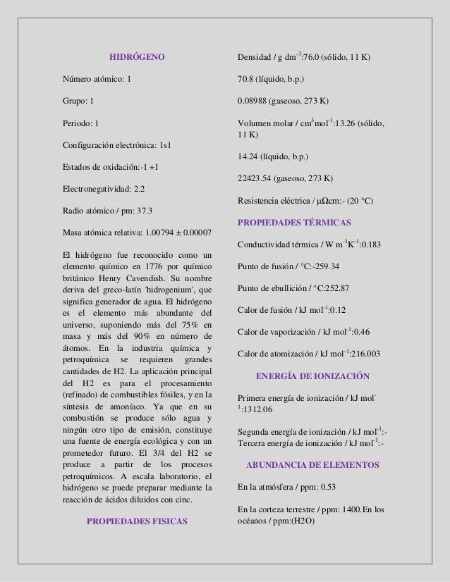 Elementos de la tabla periodica en pdf urtaz Image collections