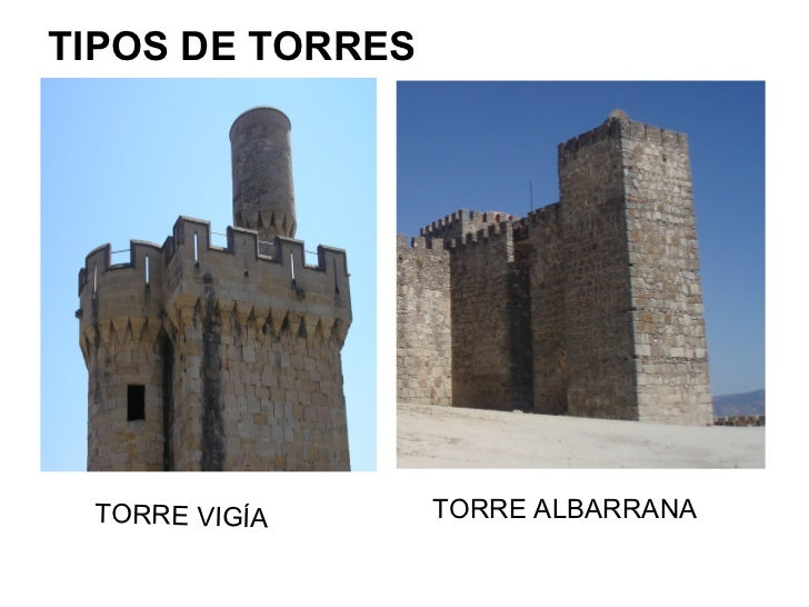 TIPOS DE TORRES TORRE VIGÍA      TORRE ALBARRANA