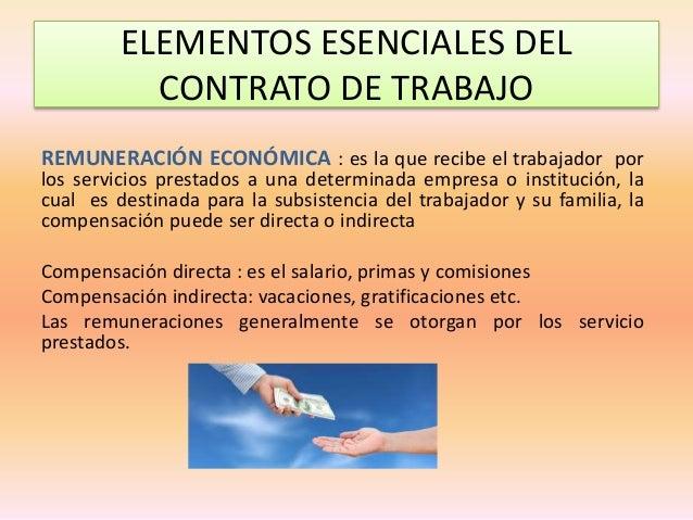 Elementos del contrato de trabajo Contrato laboral de trabajo