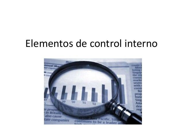 Elementos de control interno
