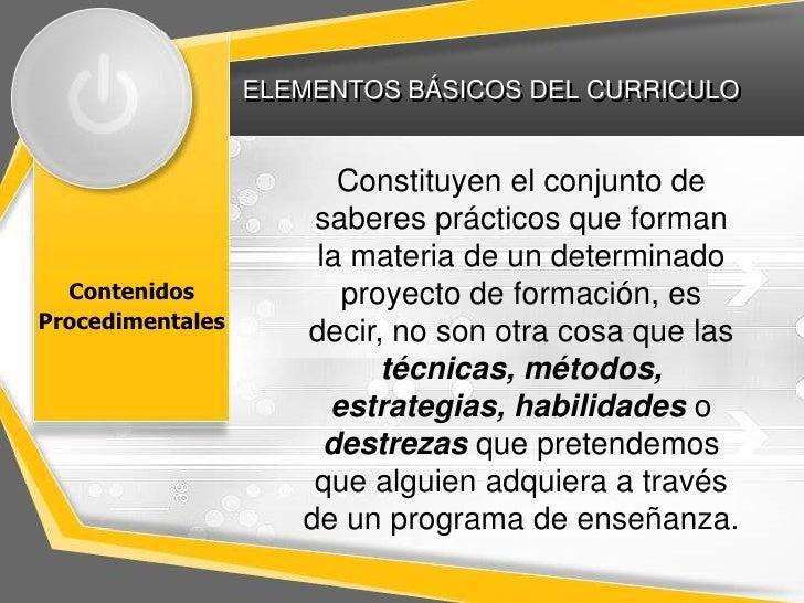 Elementos del currículo
