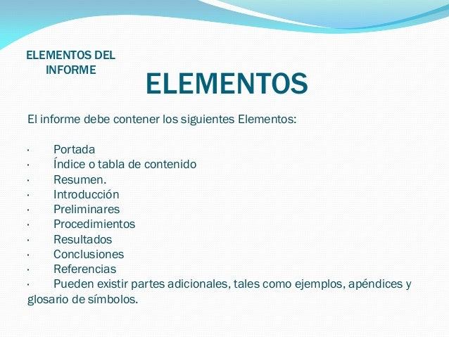 Elementos del informe for Elementos de un vivero